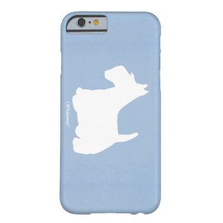 Azul de Terrier del escocés de Wedgewoof Funda Barely There iPhone 6
