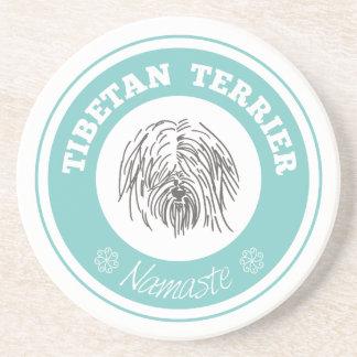 Azul de Terrier tibetano Namaste Tiffany Posavasos Diseño