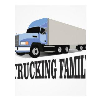 azul de trueque de la familia membrete personalizado