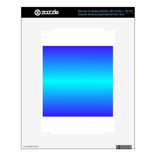 Azul de ultramar ciánico y eléctrico eléctrico hor NOOK calcomanías