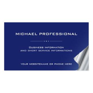 Azul de ultramar profesional moderno de la tarjeta tarjetas de visita