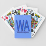 Azul de WA Washington Baraja De Cartas