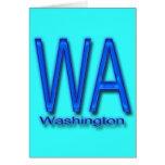 Azul de WA Washington Tarjeta