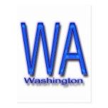 Azul de WA Washington Tarjeta Postal