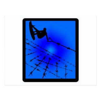 Azul de Wakeboard dividido en zonas Postal