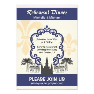 Azul del acontecimiento del boda de New Orleans de Invitación Personalizada