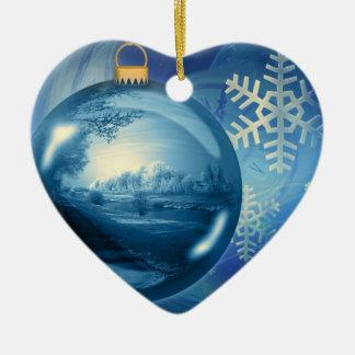 Azul del advenimiento de la tarde de la bola del o adorno para reyes