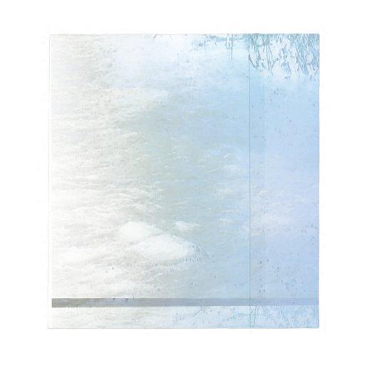 Azul del agua de río 2 bloc de notas