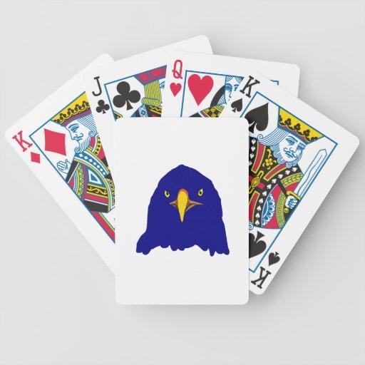 azul del águila barajas de cartas