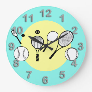 Azul del amarillo del tiempo del tenis reloj
