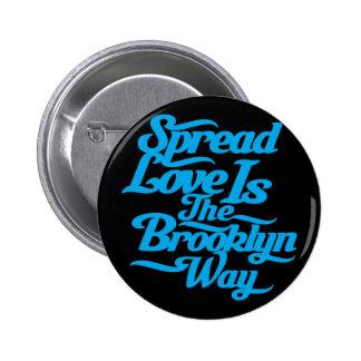 Azul del amor de Brooklyn Pin Redondo 5 Cm