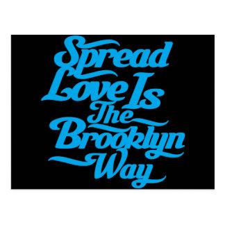 Azul del amor de Brooklyn Postales