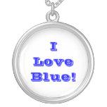 Azul del amor de Niecklace I Colgante Personalizado