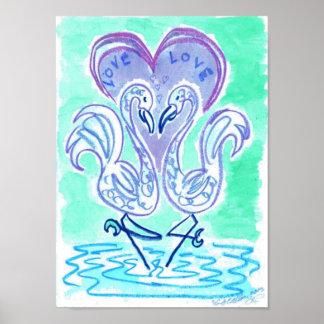 Azul del amor del flamenco de Wendy C Allen