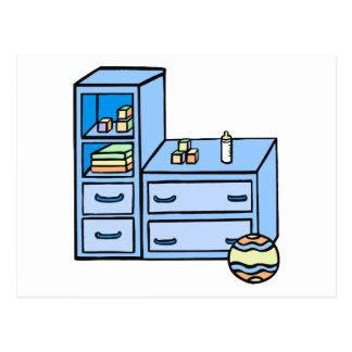azul del aparador postal