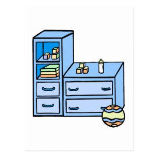 azul del aparador tarjetas postales