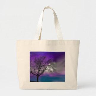 azul del árbol de la visión bolsa de mano