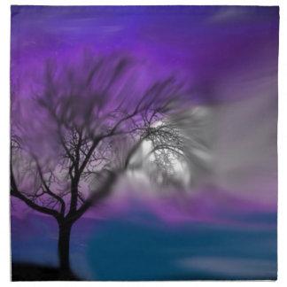 azul del árbol de la visión servilletas imprimidas