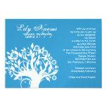 Azul del árbol de Naomi del lirio de la invitación
