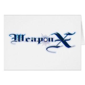 Azul del arma X Tarjeta De Felicitación