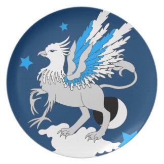Azul del arte de Gryphon Plato