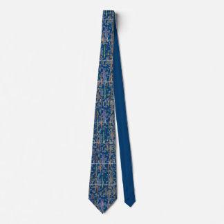 Azul del arte de la acuarela de la tira del ritmo corbatas personalizadas