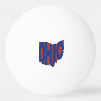 Azul del arte de la palabra del nombre del estado pelota de tenis de mesa