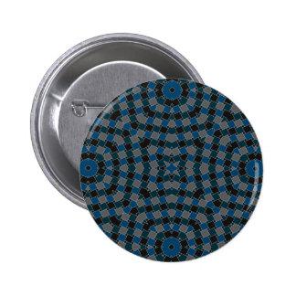 azul del arte del kaleido pin redondo 5 cm