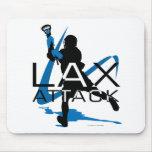 Azul del ataque de LAX de los muchachos de LaCross Tapete De Raton