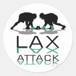 Azul del ataque de LAX de los muchachos de Pegatinas Redondas