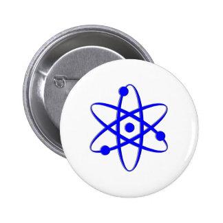 azul del átomo pins