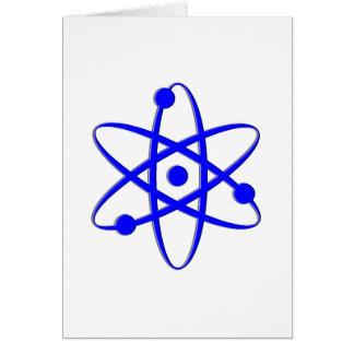 azul del átomo felicitación