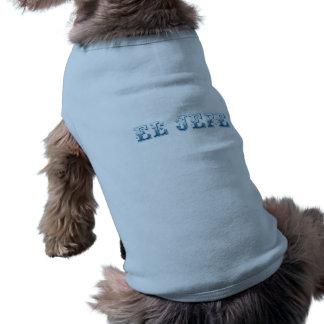 Azul del azul de Floreado del logotipo del EL Jefe Camiseta De Mascota