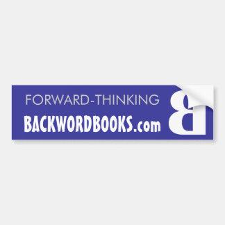 Azul del Backword y blanco de parachoques Pegatina De Parachoque