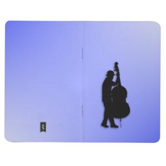 Azul del bajista cuaderno