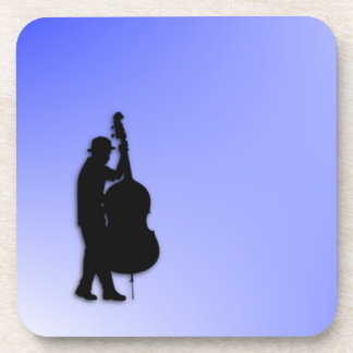 Azul del bajista posavasos