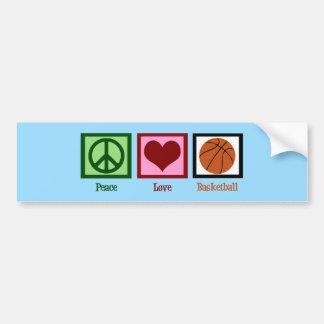 Azul del baloncesto del amor de la paz pegatina para auto