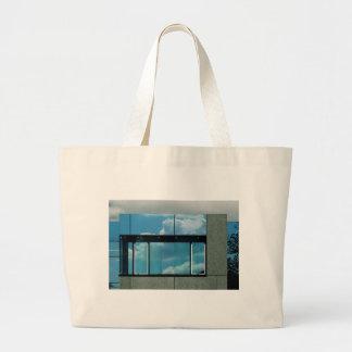 Azul del Bauhaus Bolsa Tela Grande