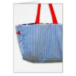 Azul del bolso del diseñador (espacio en blanco) felicitacion