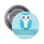 Azul del botón de la fiesta de bienvenida al bebé  pin