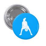 Azul del botón de la silueta del regate pins