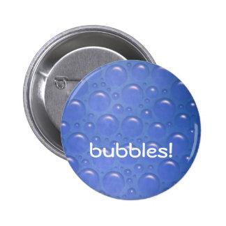 azul del botón de las burbujas