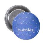 azul del botón de las burbujas pins