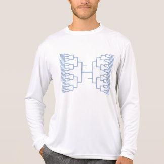 azul del bracketology camiseta