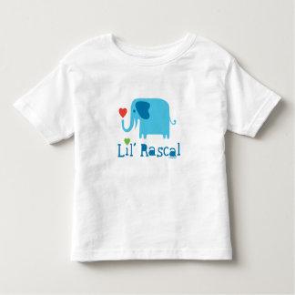 Azul del bribón de Lil del elefante Camisetas