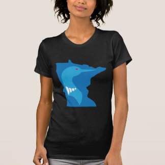 Azul del bribón de Minnesota en azul Playera