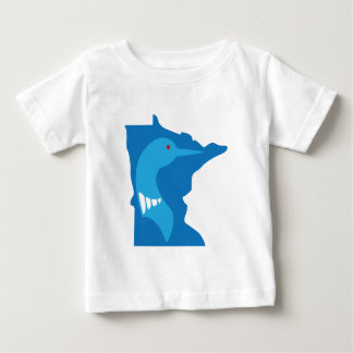 Azul del bribón de Minnesota en azul Playera De Bebé