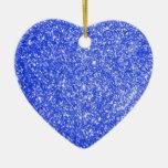 Azul del brillo adornos