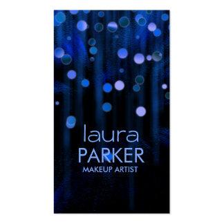 Azul del brillo de la belleza del artista de plantillas de tarjetas personales