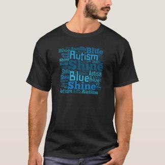 Azul del brillo para los productos del autismo playera